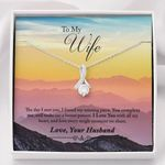 You Complete Me Gift For Wife Mountain Alluring Beauty Necklace