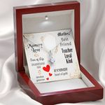 Message Card Alluring Beauty Necklace Gift For Mom Teacher Loyal Kind