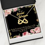 Thank For Giving Me The Best Chance Infinity Heart Necklace Gift For Mom
