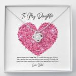 Love Knot Necklace Dad Gift For Daughter How Special You Are