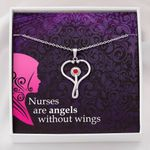 Nurses Are Angels Without Wings Stethoscope Necklace Gift For Nurse
