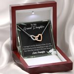 Interlocking Hearts Necklace Gift For Granddaughter Live Your Dreams