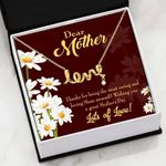 Thanks For Being The Most Caring And Loving Mom Gift For Mom Scripted Love Necklace