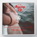 Ours Is My Favorite Love Knot Necklace Gift For Wife