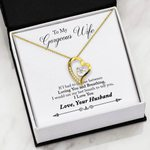 Loving You And Breathing Gift For Wife   Forever Love Necklace