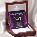 Interlocking Hearts Necklace Grandpa Gift For Granddaughter Every Time I See You