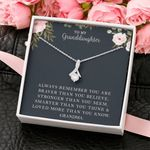 Loved More Than You Know Gift For Granddaughter 14k White Gold Alluring Beauty Necklace