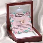 Interlocking Hearts Necklace Grandmother Gift For Granddaughter Special Bond