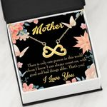 Infinity Heart Necklace Gift For Mom I Can Always Count On You