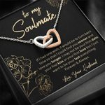 Interlocking Hearts Necklace Gift For Wife If  Had One Wish