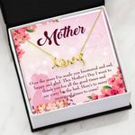 Thank For All The Good Times Message Card Scripted Love Necklace Gift For Mom