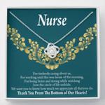 Love Knot Gift For Nurse Thank You Medical Hero Mandala Pattern