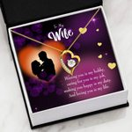 Loving You Is My Life Gift For Wife 18K Gold   Forever Love Necklace
