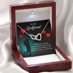 Meeting You Was Fate Gift For Girlfriend Interlocking Hearts Necklace