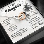Interlocking Hearts Necklace Mom Gift For Daughter If We're Apart