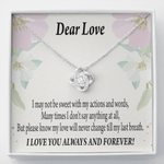 Till My Last Breath Love Knot Gift For Lovers