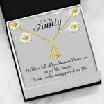 To My Aunty My Life Is Full Of Love  Anchor Necklace