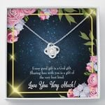Love You Very Much Gift For Lover Love Knot Necklace