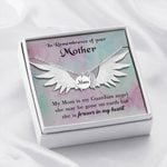 She Is Forever In My Heart Gift For Angel Mom Remembrance Angel Wing Necklace