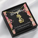 Love You As If You Were Giraffe Couple Necklace Gift For Bonus Daughter