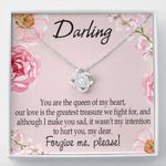 You Are The Queen Of My Heart Gift For Lover Love Knot Necklace