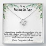 Love Knot Daughter In Law Gift For Mother In Law The Rest Of My Life
