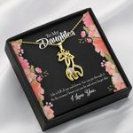 To My Daughter Life Is Full Of Ups And Downs Giraffe Couple Necklace