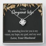 Love Knot Necklace Gift For My Unending Love For You