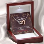Interlocking Hearts Necklace Gift For Daughter Enjoy The Beauty