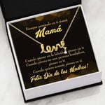 Meaningful Mom Gift Thinking Of You Spanish Scripted Love Necklace