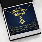 We Love You A Lot Gift For Mom 18K Gold Anchor Necklace