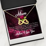 Infinity Heart Necklace Gift For Mom I Think Of You Purple Background
