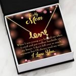 When I Was Young Scripted Love Necklace Gift For Mom