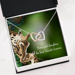 Mom And Daughter Best Friends Forever Interlocking Hearts Necklace Gift