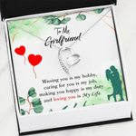 Missing You Is My Hobby Gift For Girlfriend   Forever Love Necklace
