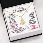To My Daughter You Will Always Be My Baby Girl Anchor Necklace