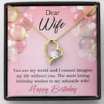 You Are My World Birthday Gift For Wife 18K Gold   Forever Love Necklace