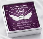 My Dad My Guardian Loss Of A Dad Sympathy Gifts Remembrance Angel Wing Necklace