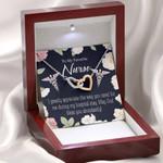 Interlocking Hearts Necklace Gift For Nurse God Bless You Abundantly