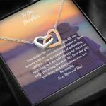 Interlocking Hearts Necklace Parents Gift For Daughter Capable Of Achieving Anything