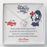 Life Has Been Totally Worth It Gift For Mom Love Knot Necklace