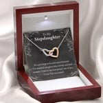 Interlocking Hearts Necklace Gift For Stepdaughter Proud Of You