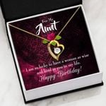 So Lucky To Have A Woman As Wise Gift For Aunt   Forever Love Necklace