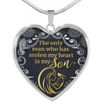 The Only Man Stealing My Heart Heart Pendant Necklace Gift For Son