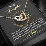 Interlocking Hearts Necklace Mom Gift For Daughter You Are My Everything