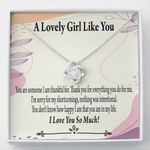 Love Knot Necklace Gift For Lovers How Happy I Am