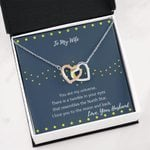 My Universe Interlocking Hearts Necklace Gift For Wife
