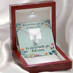 It's Not Where You Go Gift For Lover Alluring Beauty Necklace