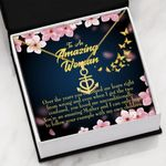 Peach Blossom Gift For Mom You Are An Amazing Anchor Necklace