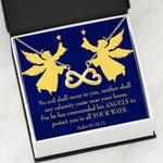 Psalm 91 Gift No Evil Shall Occur To You Infinity Heart Necklace